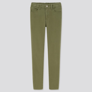 Kids Ultra Stretch Slim-Fit Zip-Fly Pants (Online Exclusive), Olive, Medium