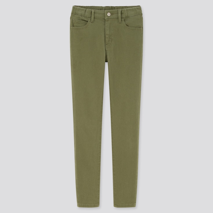 Kids Ultra Stretch Slim-Fit Zip-Fly Pants (Online Exclusive), Olive, Large