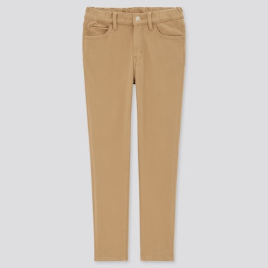 Kids HEATTECH Ultra Stretch Slim Fit Zip Fly Trousers