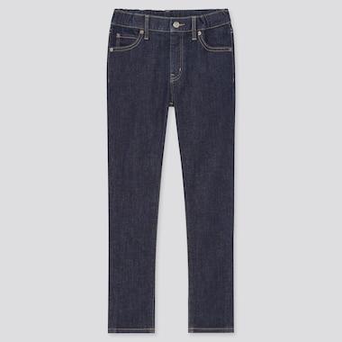 Kids Ultra Stretch Denim Slim-Fit Zip-Fly Pants, Blue, Medium