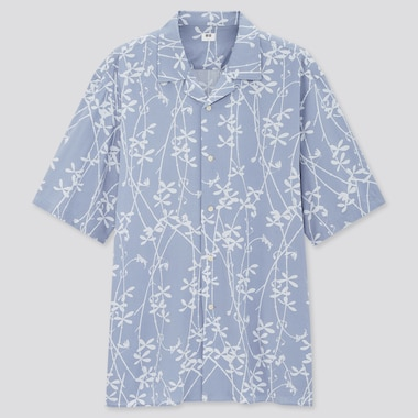 Men Ito Jakuchu UT Graphic Short Sleeved Shirt (Open Collar)
