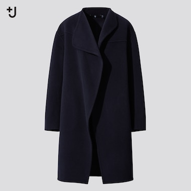 Women +J Cashmere Blend Collarless Coat