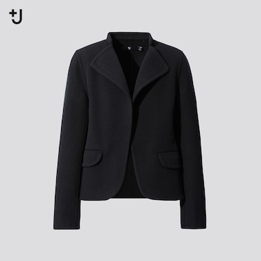 Women +J Double Faced Stand Collar Jacket