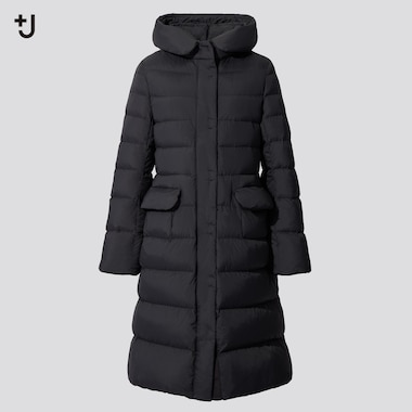 Women +J Ultra Light Down Hooded Coat