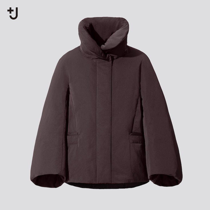 Women +J Hybrid Down Jacket, Wine, Large
