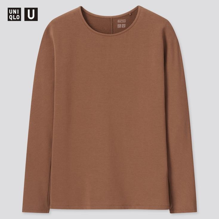 women u HEATTECH cotton crew neck long-sleeve t-shirt