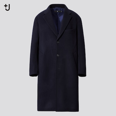 Men +J Cashmere Blend Oversized Fit Chesterfield Coat