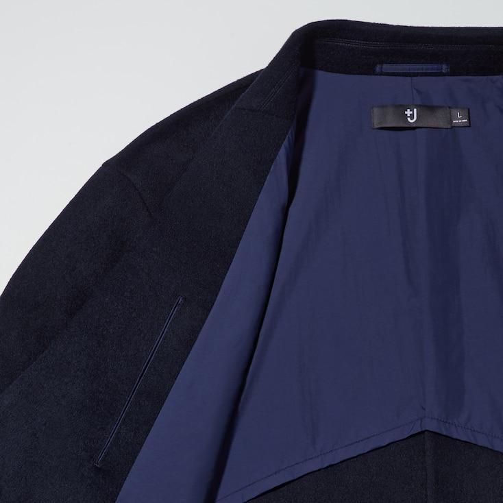 Men +J Cashmere-Blend Oversize Chester Coat, Black, Large
