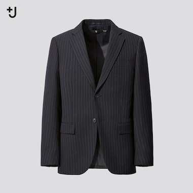 MEN +J Wool Blend Tailored Blazer Jacket