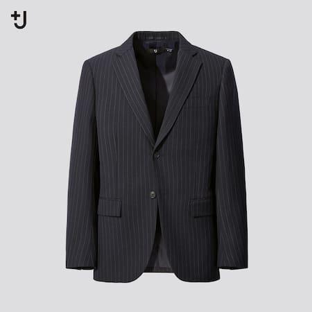 MEN +J Wool Blend Tailored Blazer Jacket