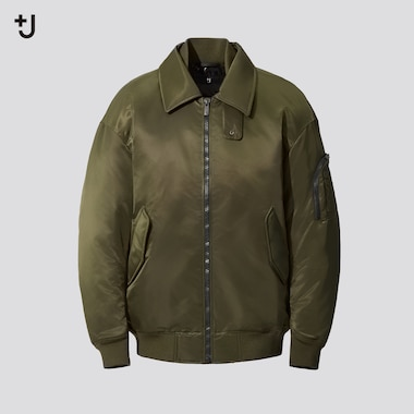 Men +J Down Oversized Fit Ribbed Blouson Jacket