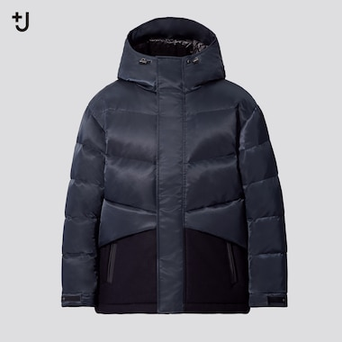 Men +J Hybrid Down Oversized Fit Jacket