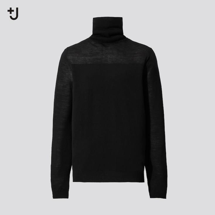 Women +J Extra Fine Merino Turtleneck Sweater, Black, Large