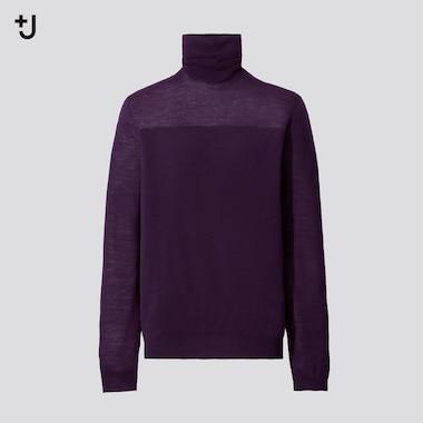 Women +J Extra Fine Merino Turtleneck Sweater, Purple, Medium
