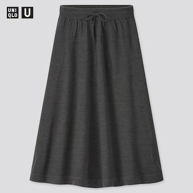 Women Uniqlo U Merino Blend Flared Skirt
