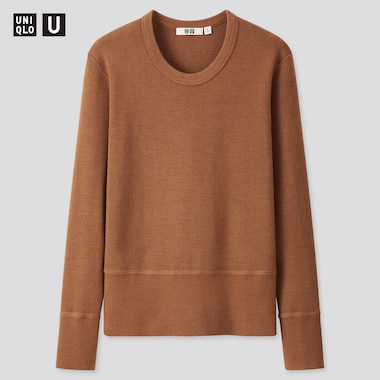 Women Uniqlo U Merino Blend Crew Neck Jumper