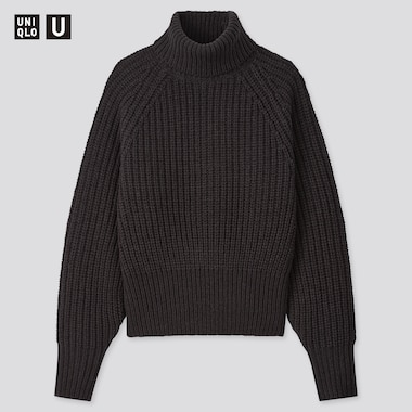 Women Uniqlo U Low Gauge Knit Turtleneck Jumper