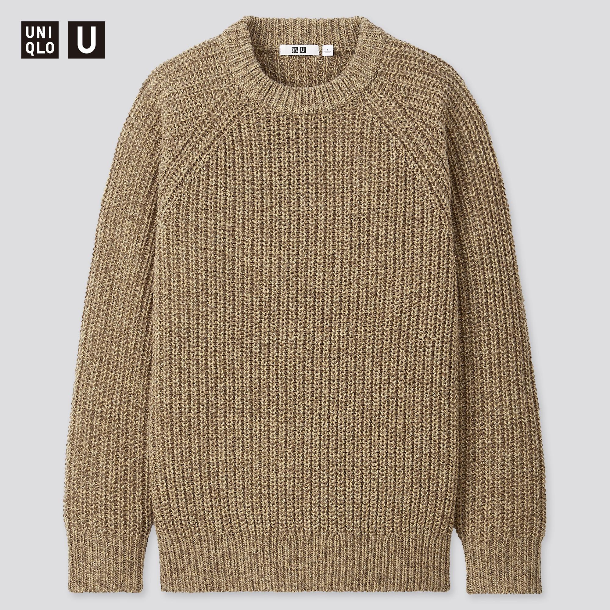 men u low gauge crew neck long-sleeve sweater