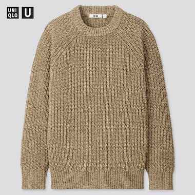 Men Uniqlo U Low Gauge Knit Crew Neck Jumper