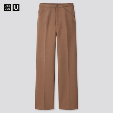 Women Uniqlo U Jersey Relaxed Fit Trousers