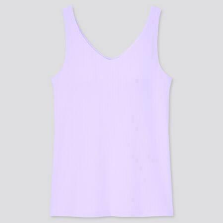 Women AIRism Cotton Ribbed V Neck Sleeveless Bratop