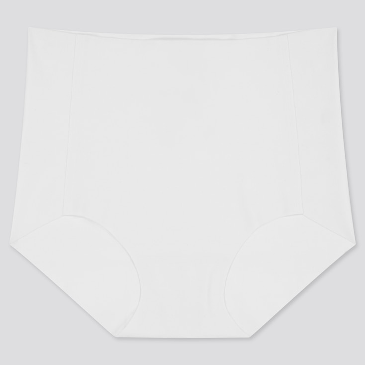 Women Airism Ultra Seamless High-Rise Briefs, White, Large
