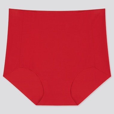 Women Airism Ultra Seamless High-Rise Briefs, Red, Medium