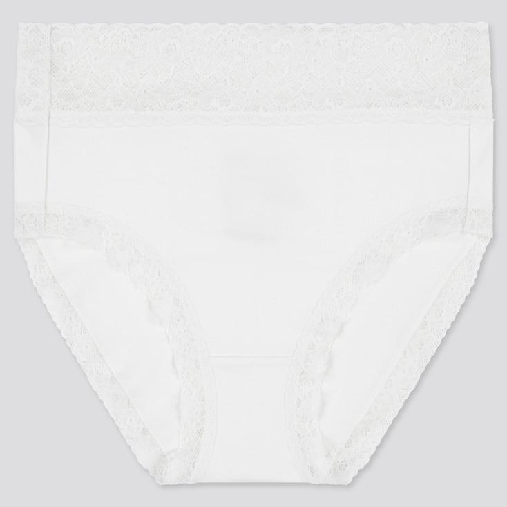 Women High-Rise Briefs, White, Large