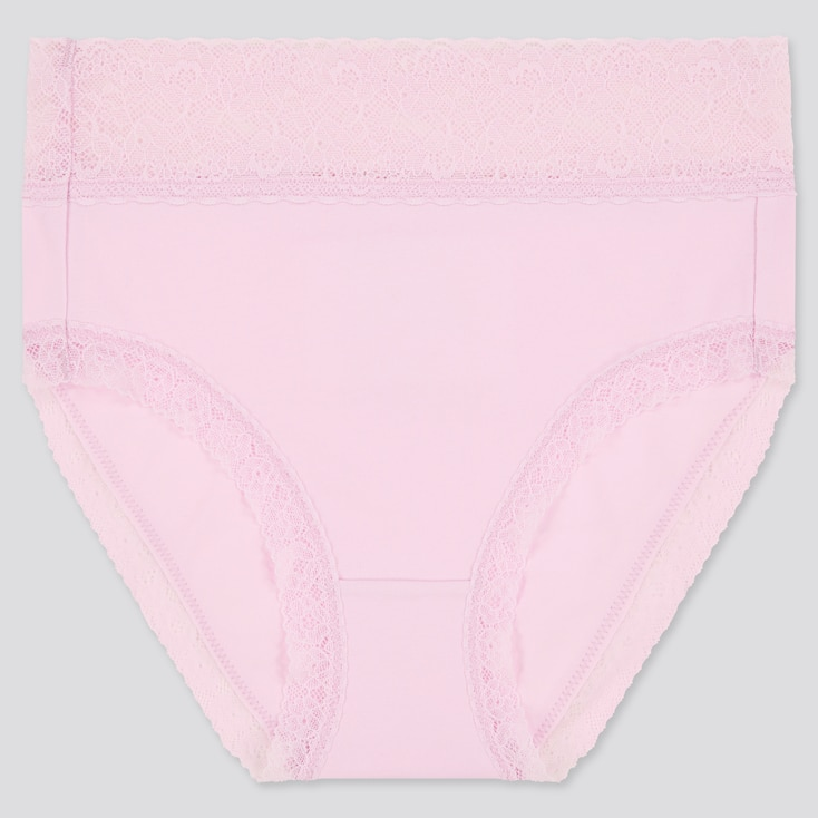 Women High-Rise Briefs, Pink, Large