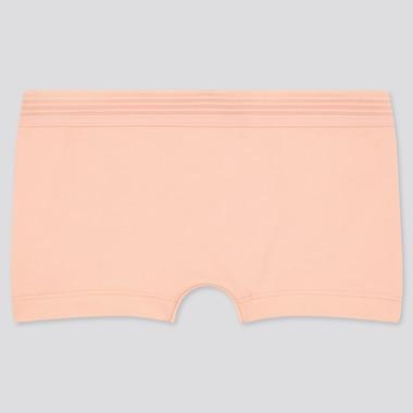 Women Boy Shorts, Light Orange, Medium