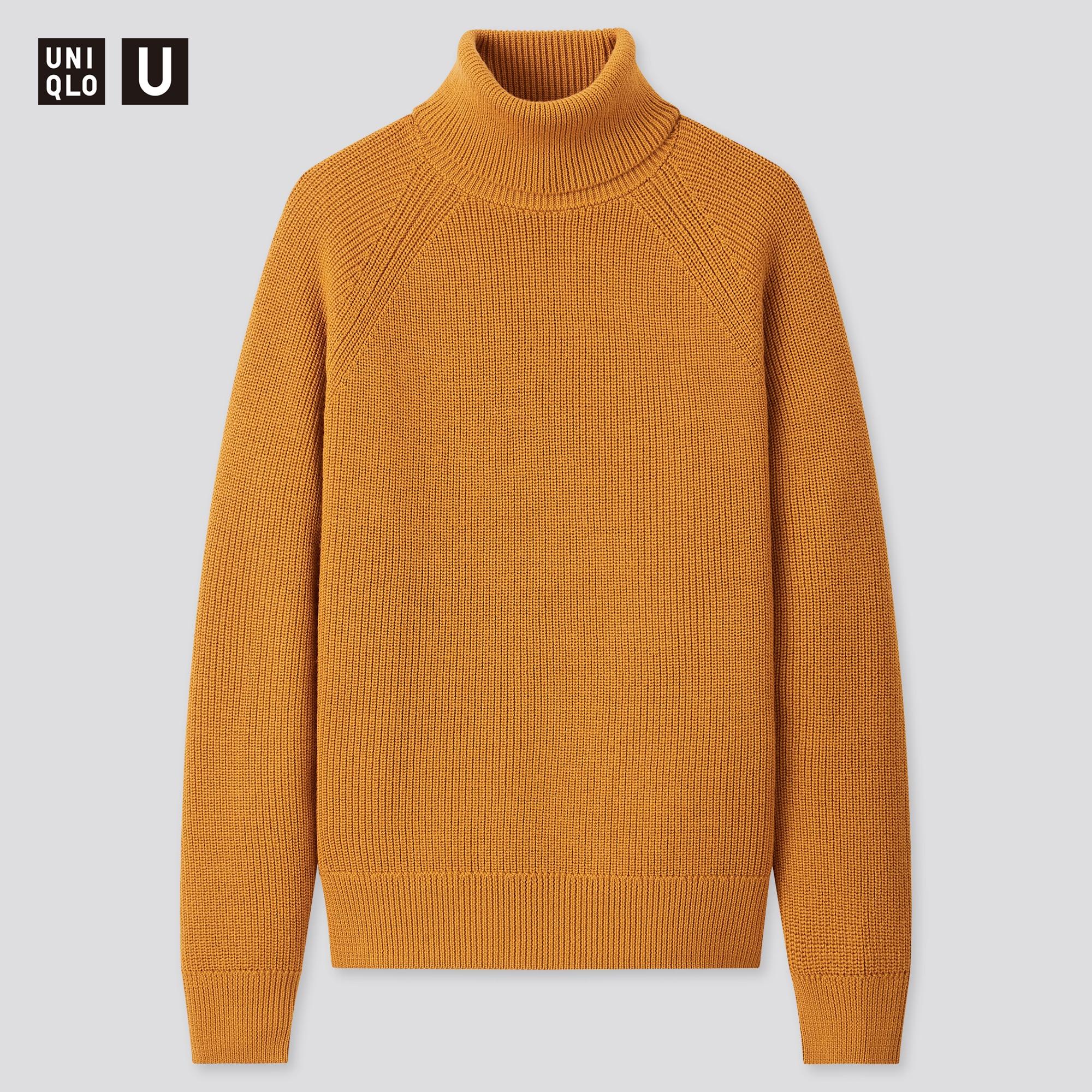 men u fisherman ribbed turtleneck long-sleeve sweater