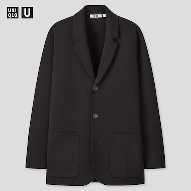 Men Uniqlo U Milano Ribbed Jacket