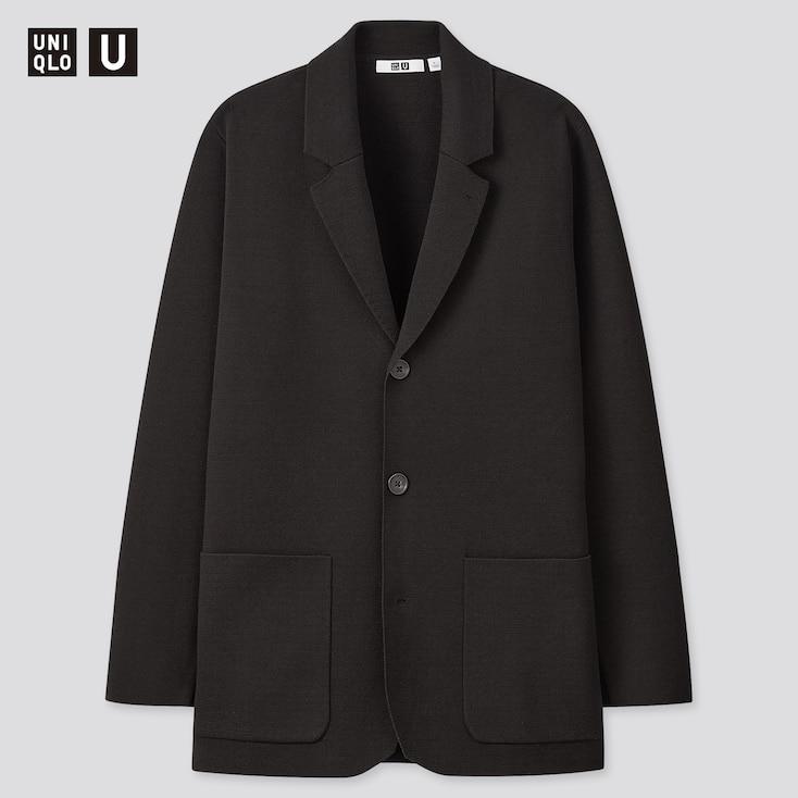 Men U Milano Ribbed Jacket, Black, Large