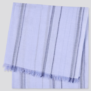 Square Striped Fringed Stole