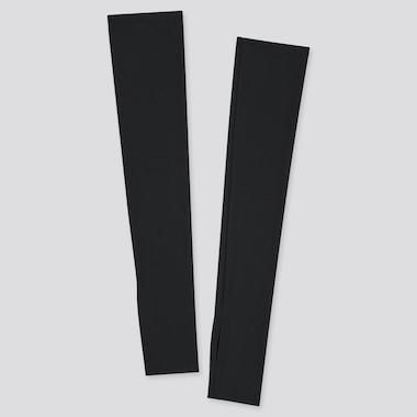 Women Airism Uv Protection Mesh Arm Cover, Black, Medium