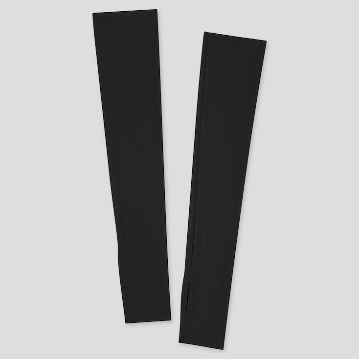 Women Airism Uv Protection Mesh Arm Cover, Black, Large