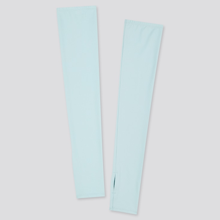 Women Airism Uv Protection Mesh Arm Cover, Blue, Large