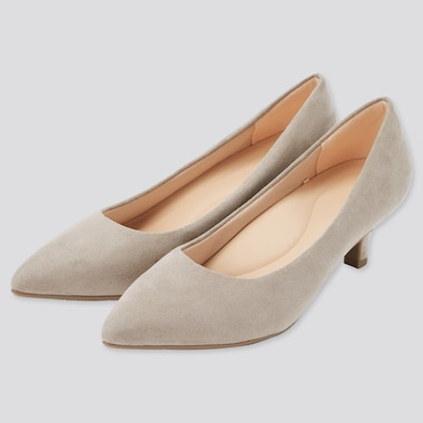 Women Comfort Touch Heels, Beige, Medium