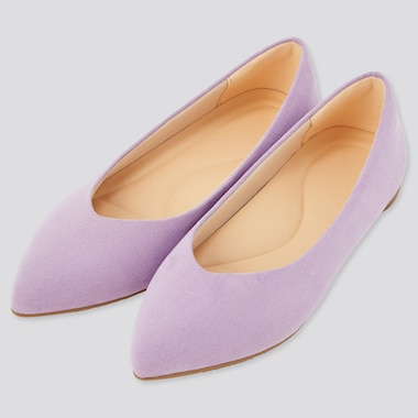 Women Comfort Touch Pointed Flats, Purple, Medium