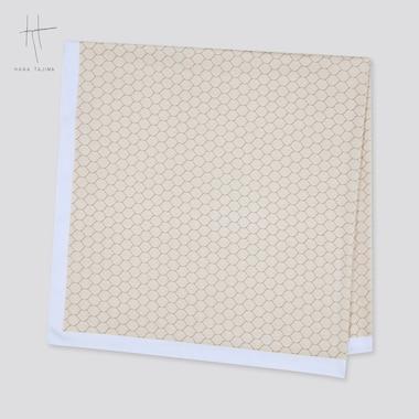 Women Printed Square Stole (Hana Tajima), Natural, Medium