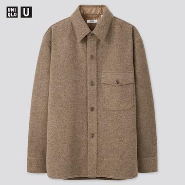 Men Uniqlo U Fleece Shirt Jacket