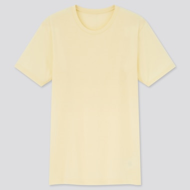 Men Dry Color Crew Neck Short-Sleeve T-Shirt,                                                                                     Yellow, Medium
