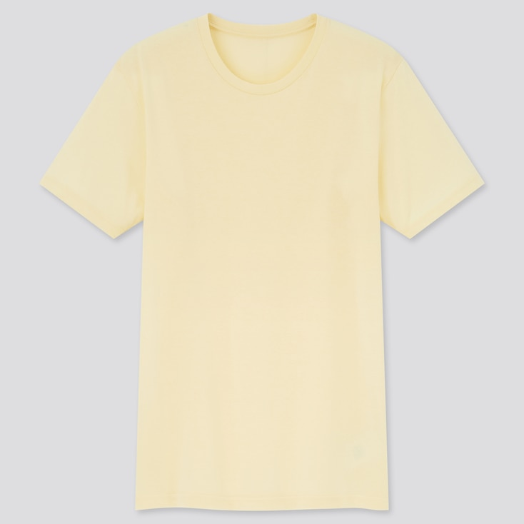 Dry Crew Neck Short-Sleeve Color T-Shirt, Yellow, Large
