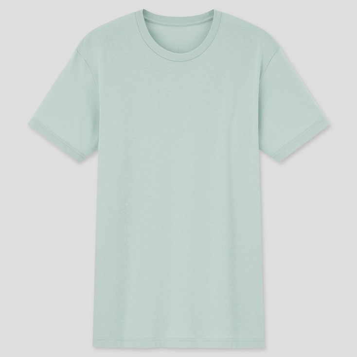 Men Dry Color Crew Neck Short-Sleeve T-Shirt,                                                                                                                 Green, Large