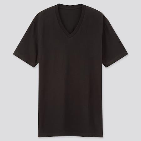 Men DRY V Neck Short Sleeved Colour T-Shirt