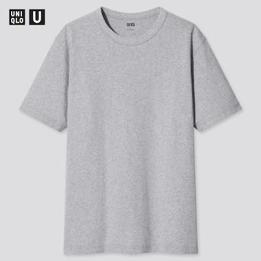 U Crew Neck Short-Sleeve T-Shirt, Light Gray, Medium
