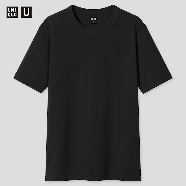 U Crew Neck Short-Sleeve T-Shirt, Black, Large