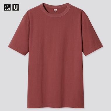 U Crew Neck Short-Sleeve T-Shirt, Red, Medium