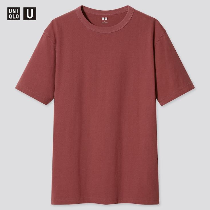 U Crew Neck Short-Sleeve T-Shirt, Red, Large