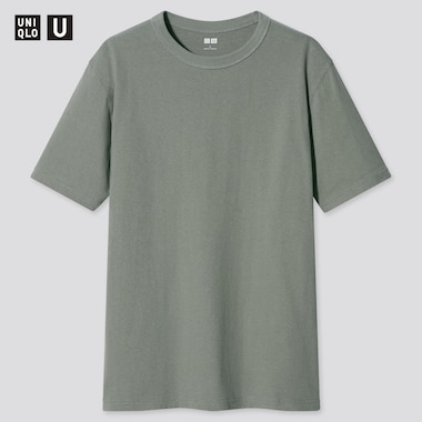 Men U Crew Neck Short-Sleeve T-Shirt, Green, Medium